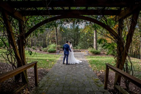 Wedding couple at auradell venue