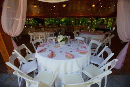 Dinning hall wedding reception