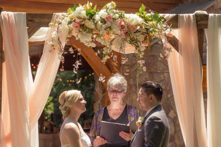 Wedding couple saying I do's